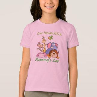 私達の家の別名お母さんの動物園 Tシャツ