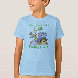 私達の家の別名お父さんの動物園 Tシャツ