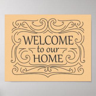 私達の家の印への歓迎 ポスター