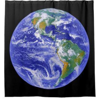 私達の家庭地球のシャワー・カーテン シャワーカーテン
