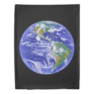 私達の家庭地球の双生児の羽毛布団カバー 掛け布団カバー