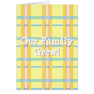 私達の家族は育ちました! ユニセックスな発表 カード