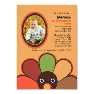 私達の小さいトルコの写真の招待状 カード