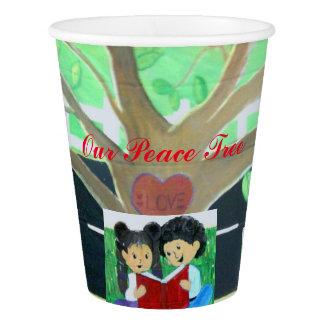 私達の平和木の紙コップ 紙コップ