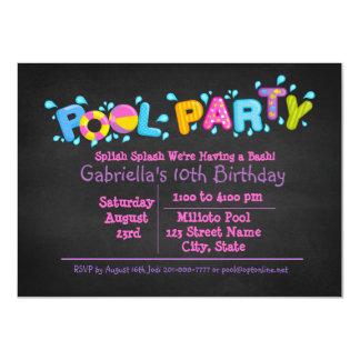 私達の強打のプールを囲んでのパーティに来られる女の子のSplishのしぶき カード