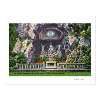 私達の悲しい母小洞窟の眺めの聖域 ポストカード