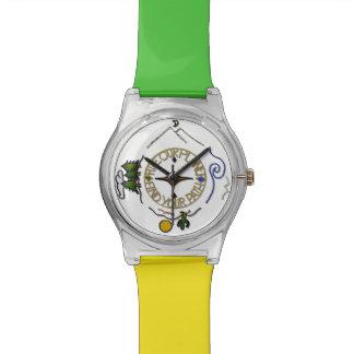 私達の惑星のハイカーの精神のコンパスをハイキングして下さい 腕時計
