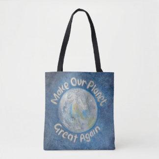 私達の惑星を素晴らしく再度させて下さい: 地球温暖化をストップ トートバッグ