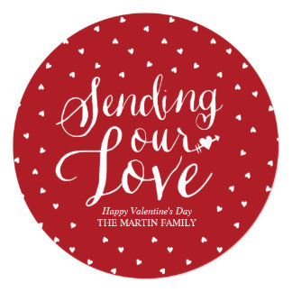 私達の愛に円形のバレンタインデーカードを送ります カード