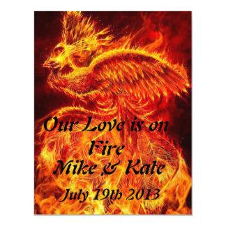 私達の愛は火にあります 10.8 X 14 インビテーションカード