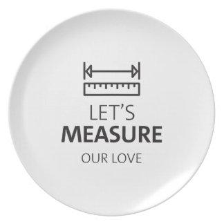私達の愛恋人のカップルのバレンタインを測定して下さい プレート