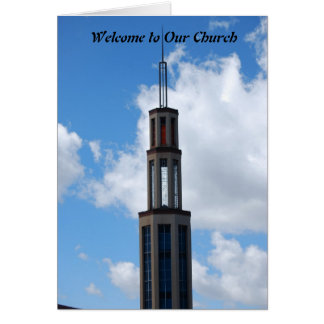 私達の教会への歓迎 カード