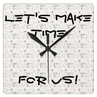 私達の時間に-最も最高のでシックな柱時計をしよう! スクエア壁時計