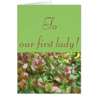 私達の最初女性に カード