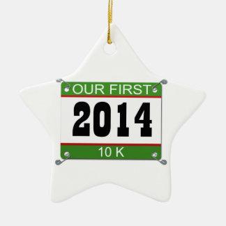 私達の最初10Kオーナメント- 2014年 セラミックオーナメント