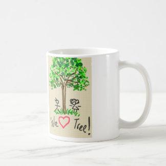 私達の木のマグを愛して下さい コーヒーマグカップ