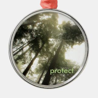 私達の森林を保護して下さい メタルオーナメント