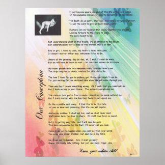 私達の概念の妊娠中絶反対の詩 ポスター