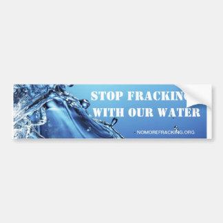 私達の水が付いている停止Fracking バンパーステッカー
