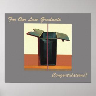 私達の法律の卒業生のお祝いポスター弁護士のため ポスター
