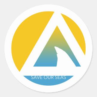 私達の海のtricirclesを救って下さい ラウンドシール