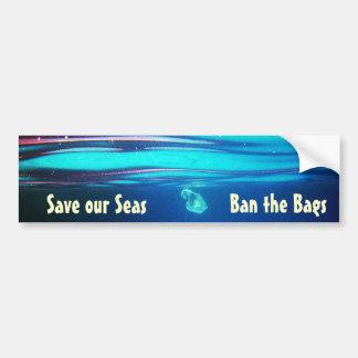 私達の海を救って下さい-バッグのバンパーステッカーを禁止して下さい バンパーステッカー