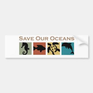 私達の海洋を救って下さい バンパーステッカー