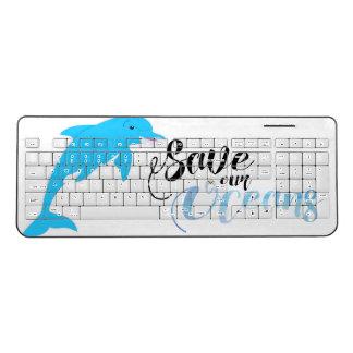 私達の海洋を救って下さい ワイヤレスキーボード