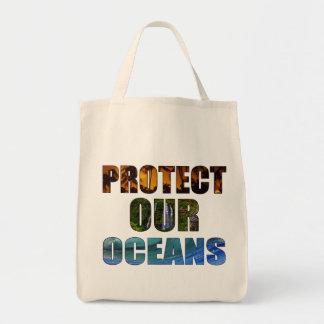 """""""私達の海洋""""のハワイの食料雑貨のトート保護して下さい トートバッグ"""