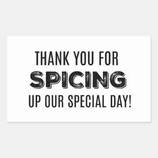 私達の特別な日のラベルに味を付けるためにあなたの感謝していして下さい 長方形シール