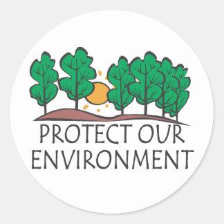 私達の環境を保護して下さい ラウンドシール