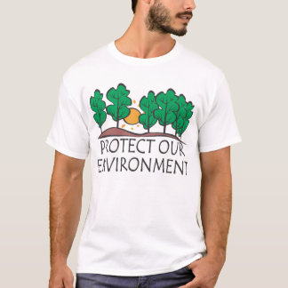私達の環境を保護して下さい Tシャツ