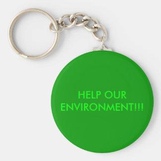 私達の環境を!救済して下さい!! キーホルダー
