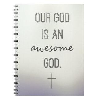 """""""私達の神素晴らしい神""""のノートです ノートブック"""