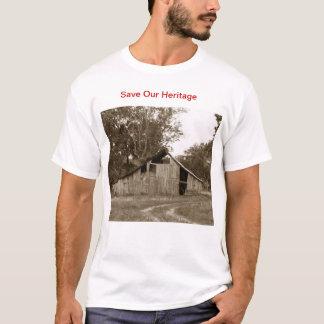 私達の納屋のTシャツを救って下さい Tシャツ