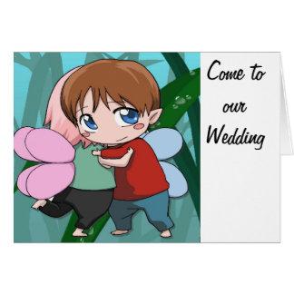 私達の結婚式に来られる グリーティングカード