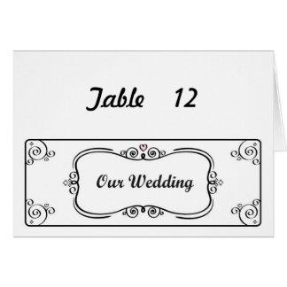 私達の結婚式の旗のテーブル数は#2を梳きます カード