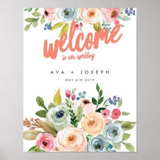 私達の結婚POSTER-PEAへの明るい植物の歓迎 ポスター