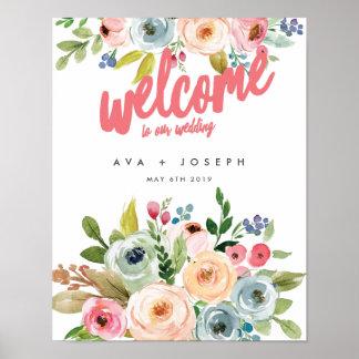 私達の結婚POSTER-PINへの明るい植物の歓迎 ポスター