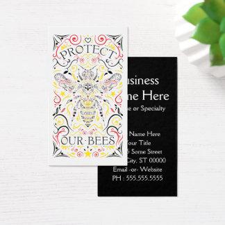 私達の蜂を保護して下さい 名刺