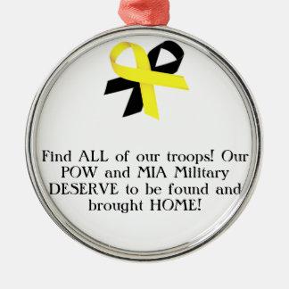 私達の軍隊全員を見つけて下さい! 私達の捕虜およびMIAの軍隊。 メタルオーナメント
