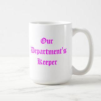 私達の部門の看守-マグのピンク コーヒーマグカップ
