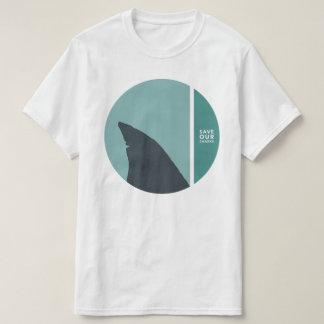 私達の鮫の円を救って下さい Tシャツ