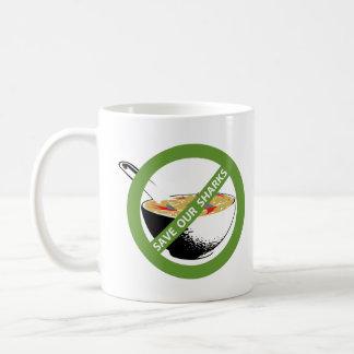 私達の鮫の禁止の鮫のひれスープを救って下さい コーヒーマグカップ