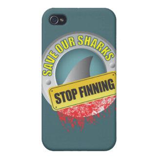 私達の鮫停止Finningのiphoneの場合を救って下さい iPhone 4/4Sケース