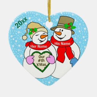 私達の#thのクリスマス セラミックオーナメント