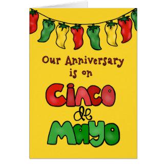 私達のCinco deメーヨーは私達をさせますそれを熱く記念日! カード