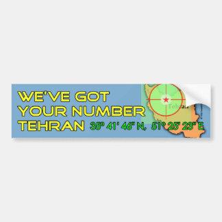 私達はあなたの数テヘランを持っています バンパーステッカー