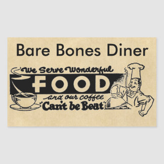 """""""私達はすばらしい食糧""""にカスタマイズレストラン役立ちます 長方形シール"""