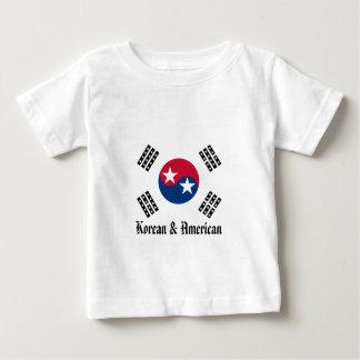 私達はすべてのアメリカ-韓国語及びアメリカ人です ベビーTシャツ